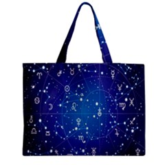 Astrology Illness Prediction Zodiac Star Medium Tote Bag by Mariart