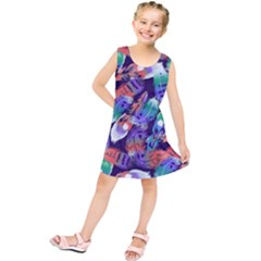Bird Feathers Color Rainbow Animals Fly Kids  Tunic Dress