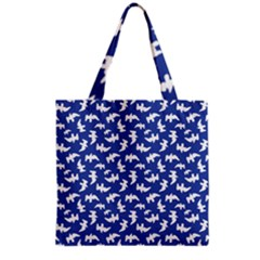 Birds Silhouette Pattern Grocery Tote Bag by dflcprintsclothing