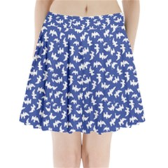 Birds Silhouette Pattern Pleated Mini Skirt by dflcprintsclothing