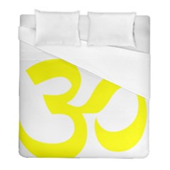 Hindu Om Symbol (maze Yellow) Duvet Cover (full/ Double Size) by abbeyz71