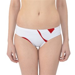 Hindu Om Symbol (red) Hipster Bikini Bottoms by abbeyz71