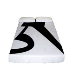 Tibetan Om Symbol (black) Fitted Sheet (full/ Double Size) by abbeyz71