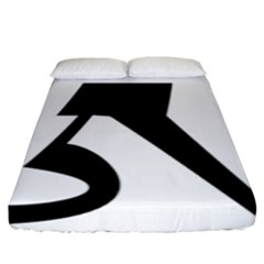 Tibetan Om Symbol (black) Fitted Sheet (king Size) by abbeyz71