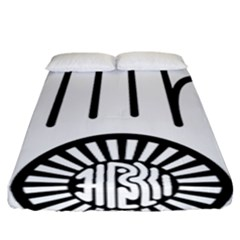 Janism Ahimsa Symbol  Fitted Sheet (california King Size) by abbeyz71