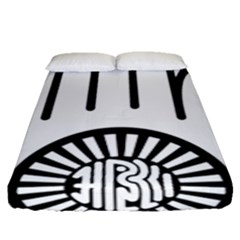 Jainism Ahisma Symbol  Fitted Sheet (queen Size) by abbeyz71