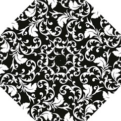 Black And White Floral Patterns Hook Handle Umbrellas (small)