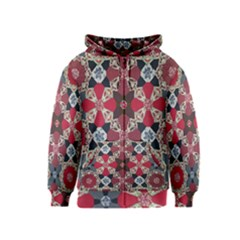 Beautiful Art Pattern Kids  Zipper Hoodie