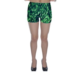 Green Attack Skinny Shorts