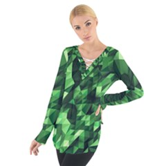 Green Attack Women s Tie Up Tee
