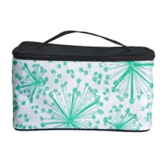 Pattern Floralgreen Cosmetic Storage Case by Nexatart