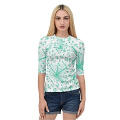 Pattern Floralgreen Quarter Sleeve Tee