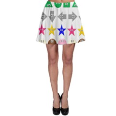 Cute Symbol Skater Skirt by Nexatart