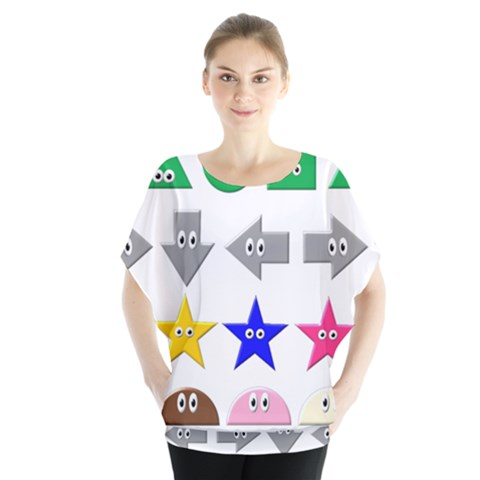 Cute Symbol Blouse by Nexatart