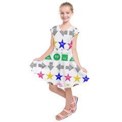 Cute Symbol Kids  Short Sleeve Dress by Nexatart