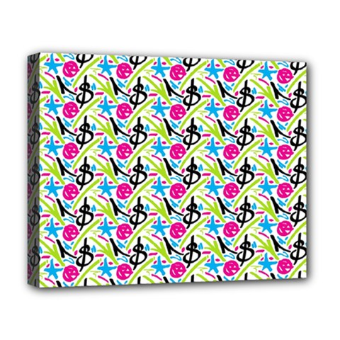 Cool Graffiti Patterns  Deluxe Canvas 20  X 16   by Nexatart
