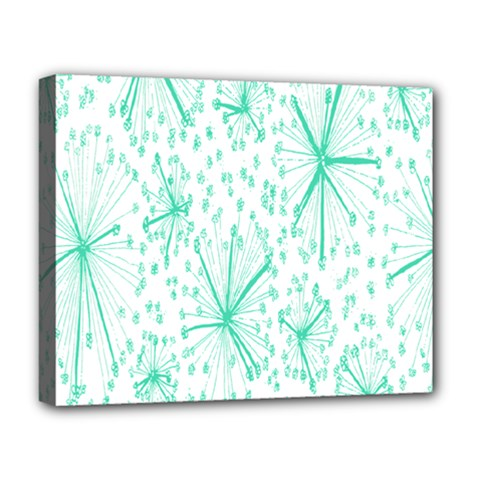 Pattern Floralgreen Deluxe Canvas 20  X 16   by Nexatart