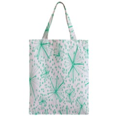 Pattern Floralgreen Zipper Classic Tote Bag by Nexatart