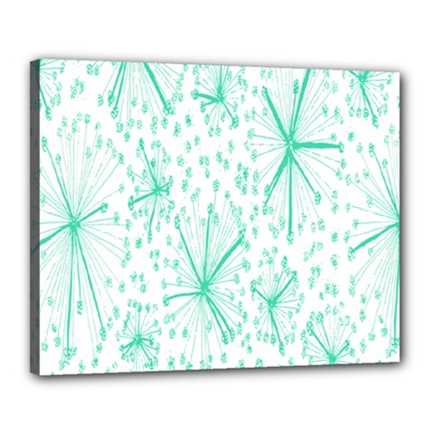Pattern Floralgreen Canvas 20  X 16