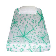 Pattern Floralgreen Fitted Sheet (single Size) by Nexatart