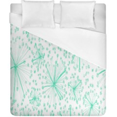 Pattern Floralgreen Duvet Cover (california King Size)