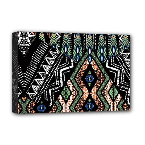 Ethnic Art Pattern Deluxe Canvas 18  X 12
