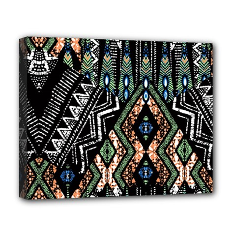 Ethnic Art Pattern Deluxe Canvas 20  X 16
