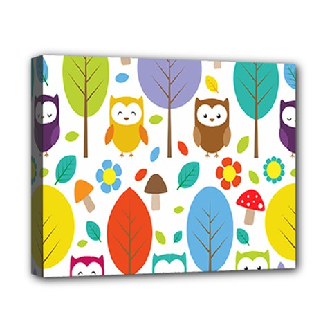 Cute Owl Canvas 10  X 8  by Nexatart