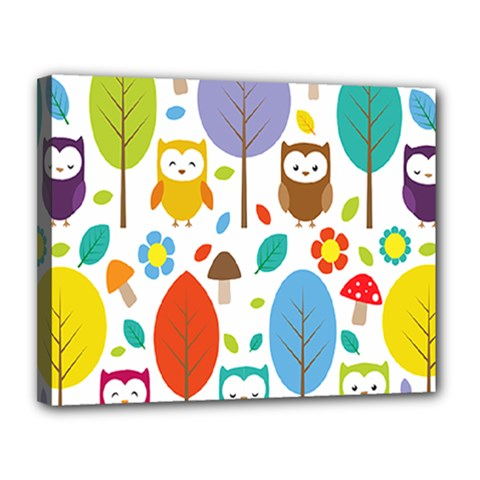 Cute Owl Canvas 14  X 11  by Nexatart