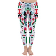 Abstract Peacock Classic Winter Leggings
