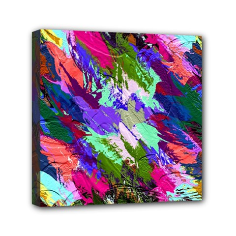 Tropical Jungle Print And Color Trends Mini Canvas 6  X 6