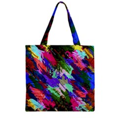 Tropical Jungle Print And Color Trends Zipper Grocery Tote Bag