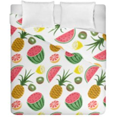 Fruits Pattern Duvet Cover Double Side (california King Size) by Nexatart
