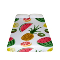Fruits Pattern Fitted Sheet (full/ Double Size) by Nexatart