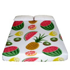 Fruits Pattern Fitted Sheet (queen Size) by Nexatart