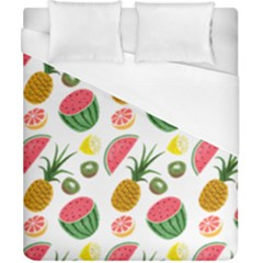 Fruits Pattern Duvet Cover (california King Size) by Nexatart