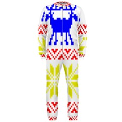 Jacquard With Elks Onepiece Jumpsuit (men)  by Nexatart