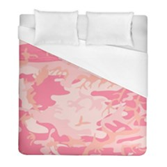 Pink Camo Print Duvet Cover (full/ Double Size) by Nexatart