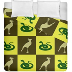 Bird And Snake Pattern Duvet Cover Double Side (king Size) by Nexatart