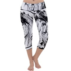 Framed Horse Capri Yoga Leggings by Nexatart