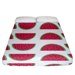 Watermelon Pattern Fitted Sheet (queen Size) by Nexatart