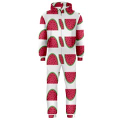 Watermelon Pattern Hooded Jumpsuit (men)