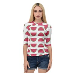 Watermelon Pattern Quarter Sleeve Tee