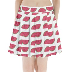 Watermelon Pattern Pleated Mini Skirt by Nexatart