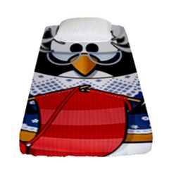 Grandma Penguin Fitted Sheet (single Size) by Nexatart