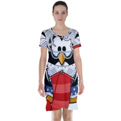 Grandma Penguin Short Sleeve Nightdress
