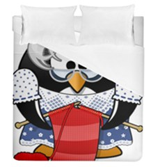 Grandma Penguin Duvet Cover (queen Size) by Nexatart