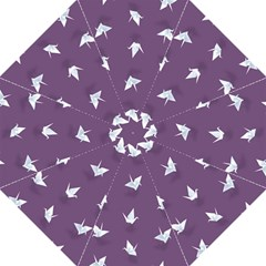 Goose Swan Animals Birl Origami Papper White Purple Straight Umbrellas by Mariart