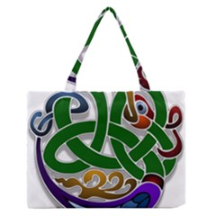 Celtic Ornament Medium Zipper Tote Bag by Nexatart