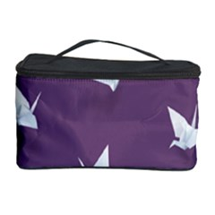 Goose Swan Animals Birl Origami Papper White Purple Cosmetic Storage Case by Mariart